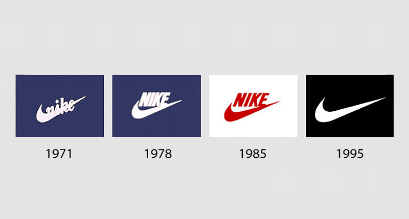 Nike logo history: its meaning and photo at the time of