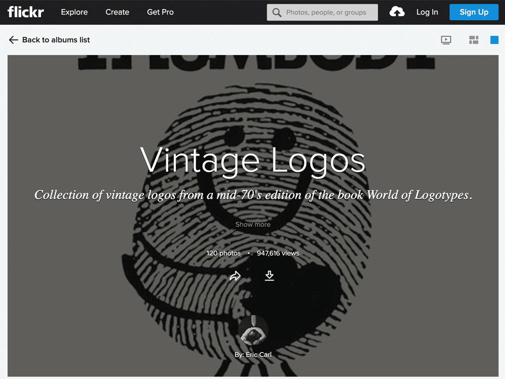 flickr vintage logos