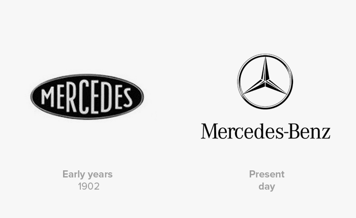 mercedes logo history