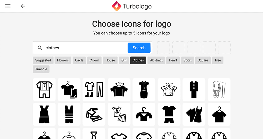 apparel shop icons