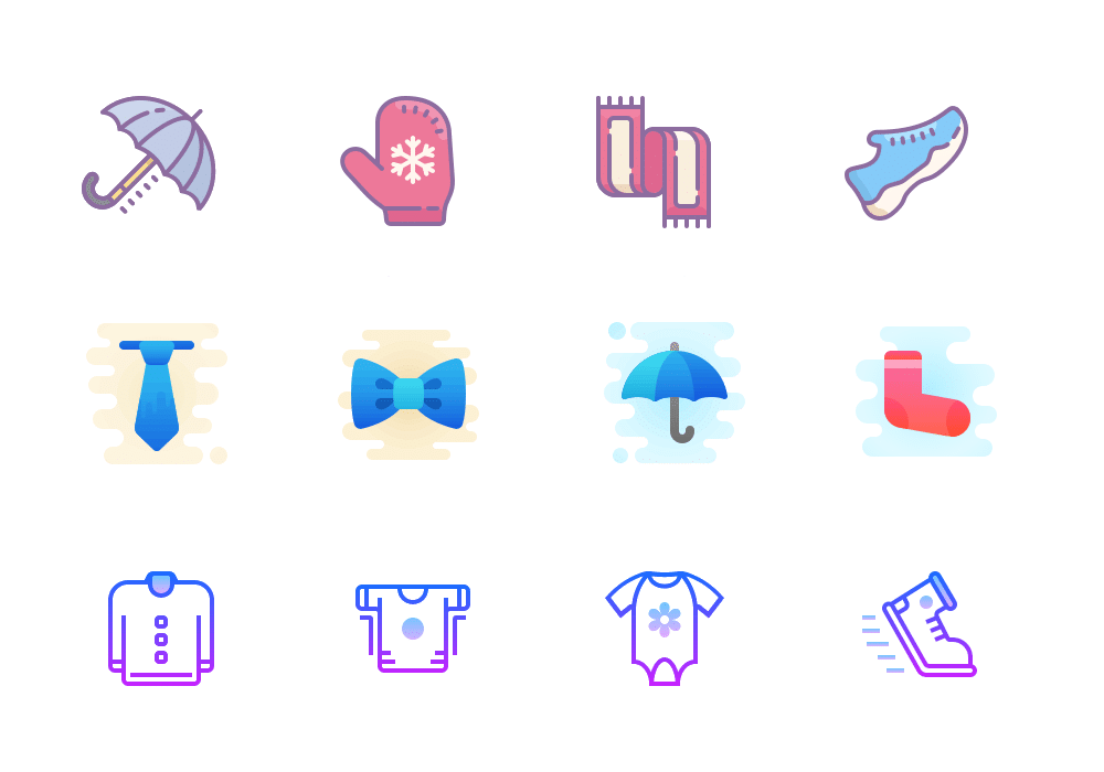 clothes shop icons