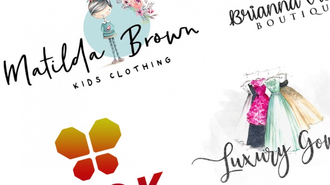 Clothes shop logos