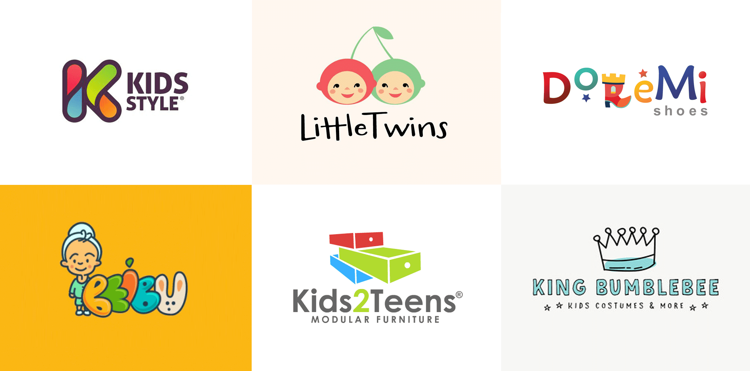 kids apparel shop logos