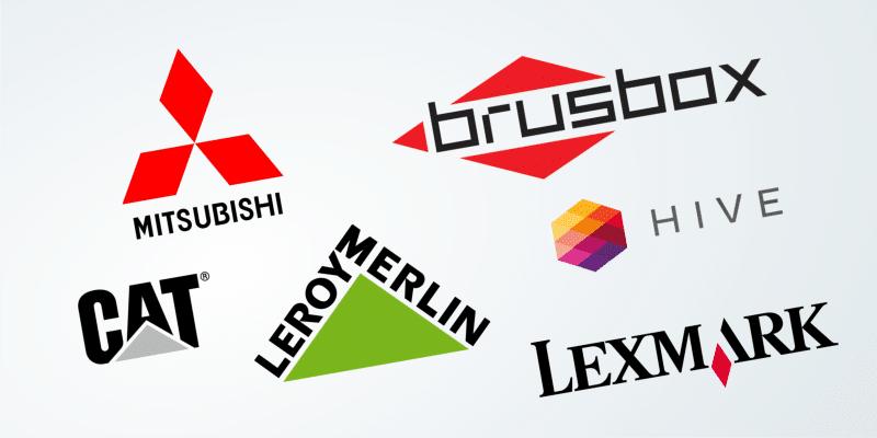 geometrischer Logo-Stil