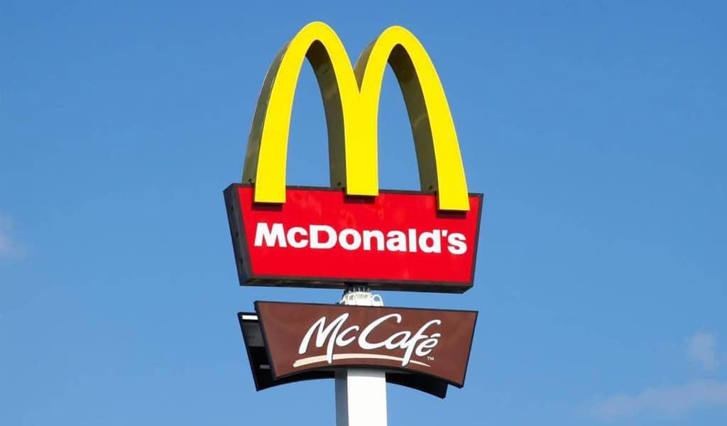 Das Merkmal des Mc`donalds-Logos