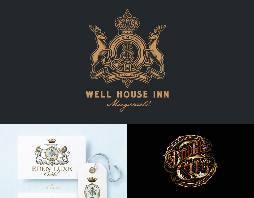 Maximalistic logos design