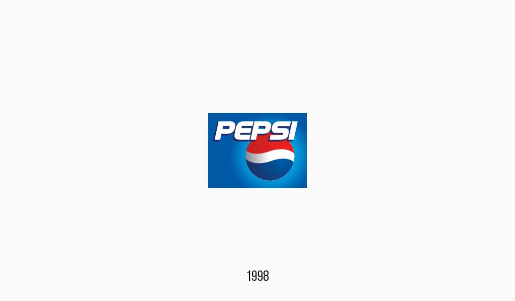Pepsi cola logo, 1998