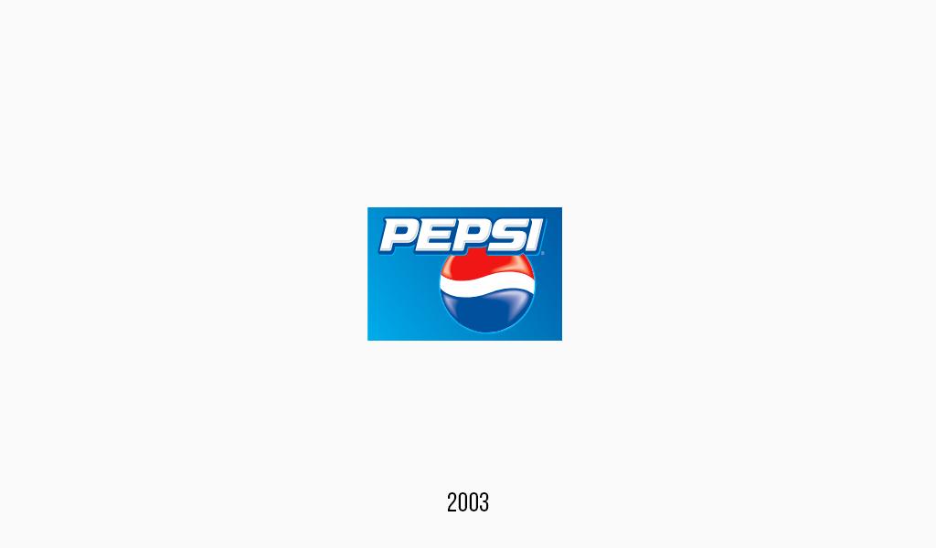 Pepsi cola logo, 2003