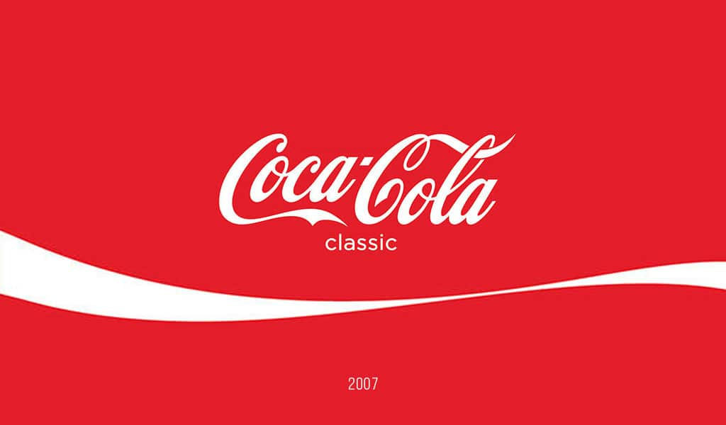 Coca-Cola logo, 2007