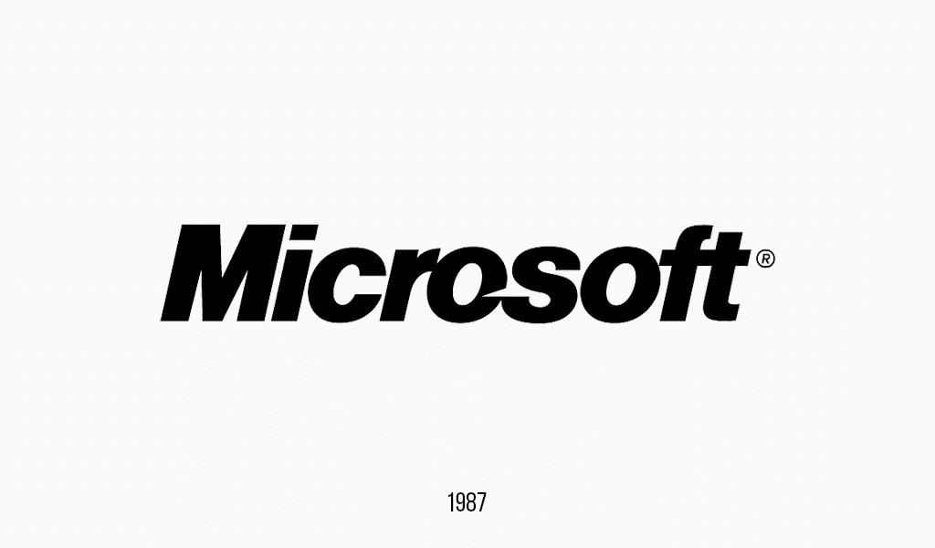 Logotipo Microsoft, 1987