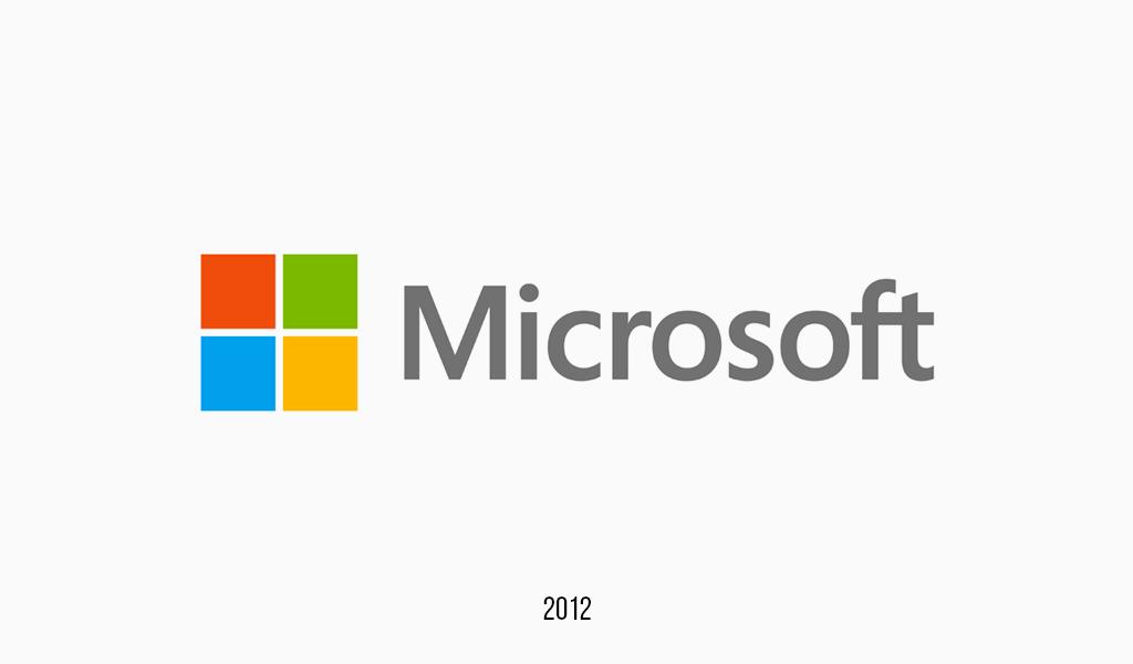 Último logotipo da Microsoft, 2012