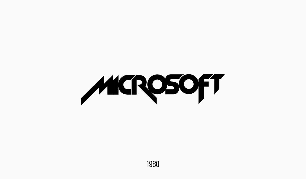 Logotipo Microsoft, 1980