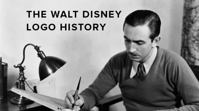 The Walt Disney logo history