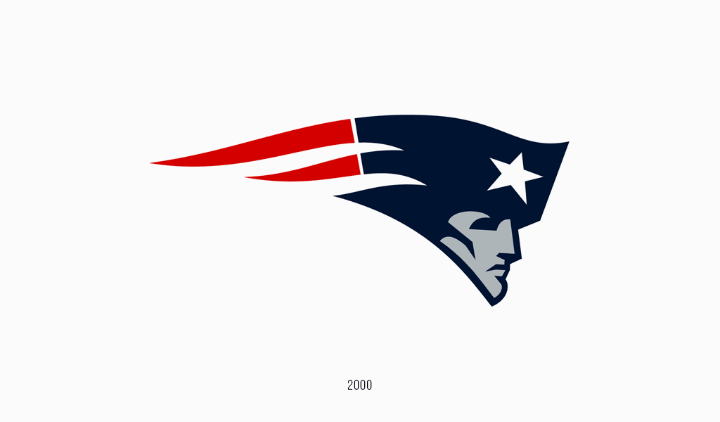 New England Patriots logo, 1992