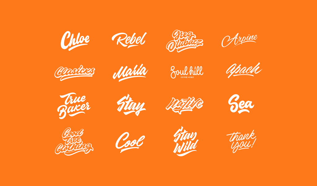 Cool lettering logos