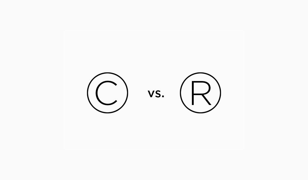 Copyright-Logo gegen Marke