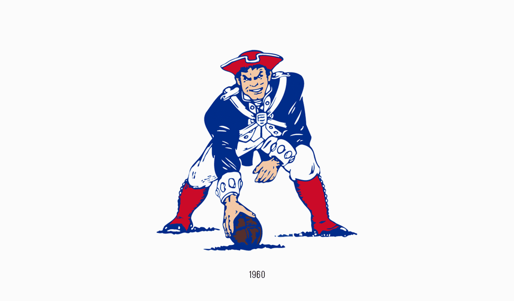 Old New England Patriots logo
