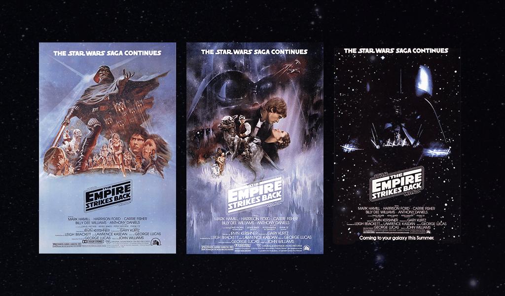 Star Wars-Logo - das Imperium schlägt Plakate zurück
