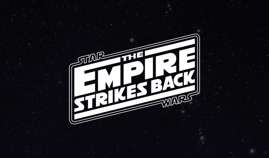 Star Wars logo - the empire strikes back
