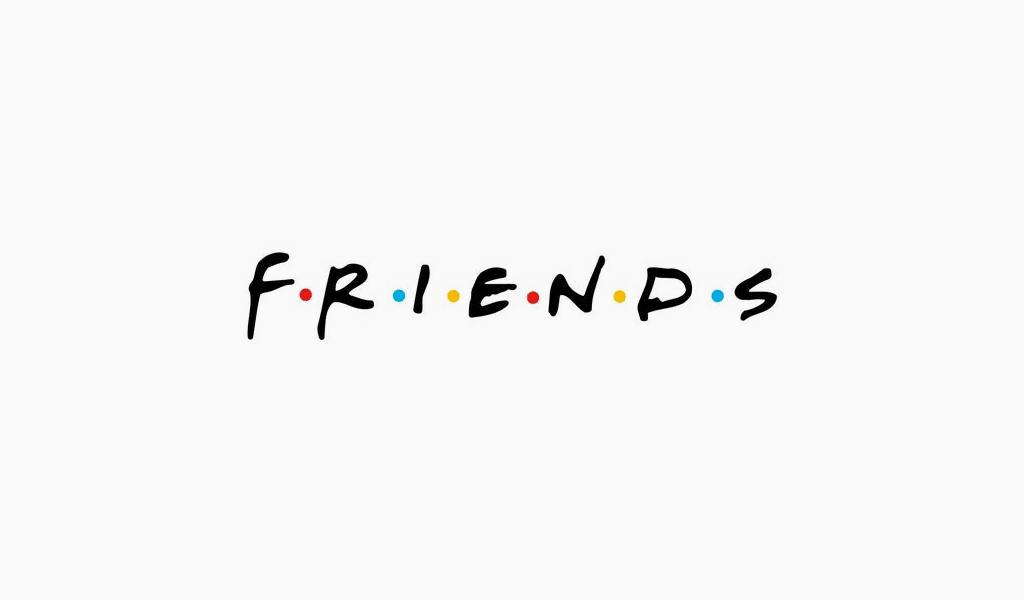Fonte do logotipo dos amigos