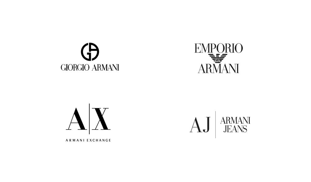 Armani logo history
