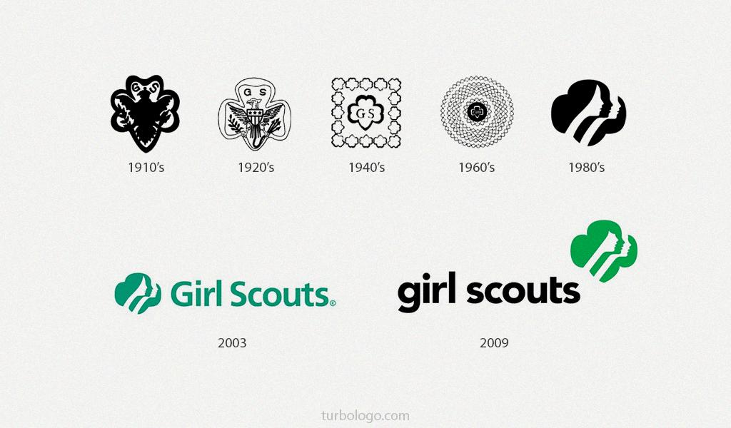 Girl scout logo geçmişi