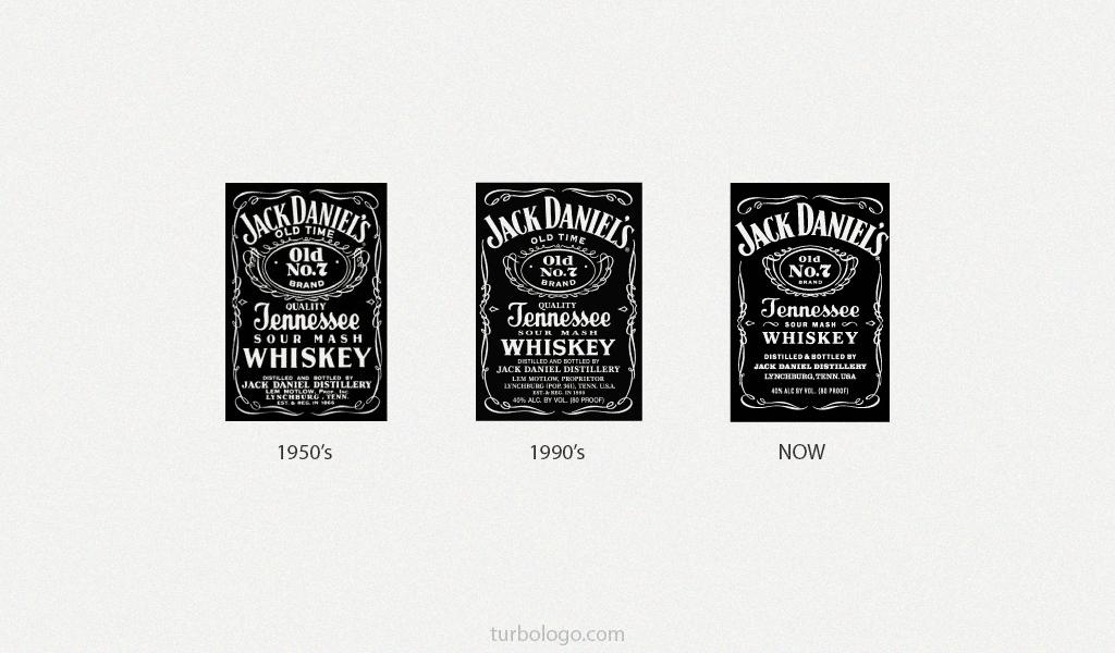 Jack Daniels logo history
