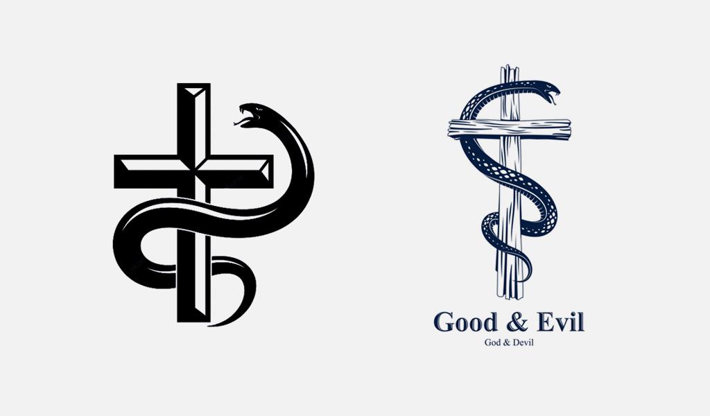 Cross snake logos 2