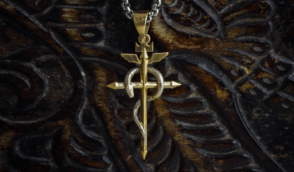 Cross snake logos 3
