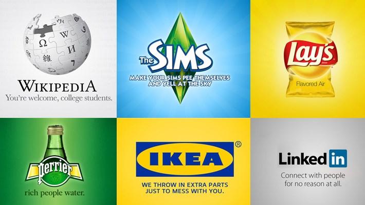 Logos avec un slogan