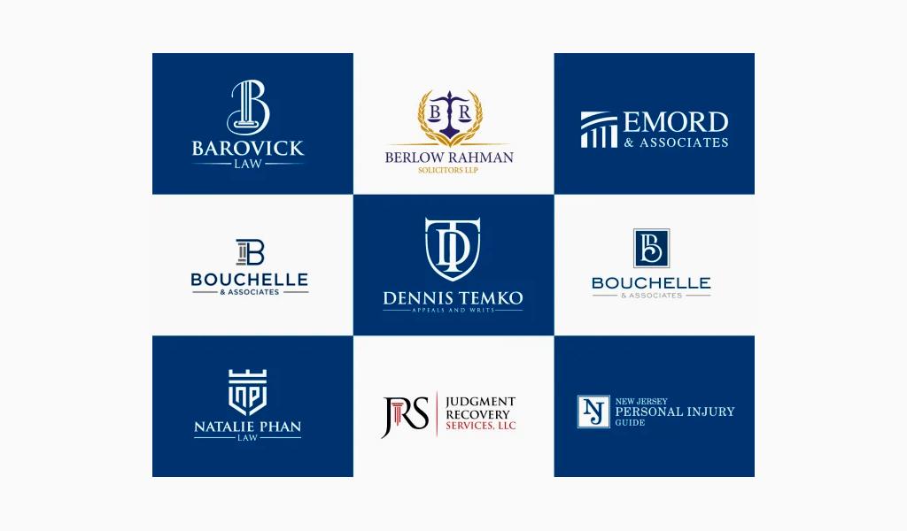 Logotipos de escritórios de advocacia