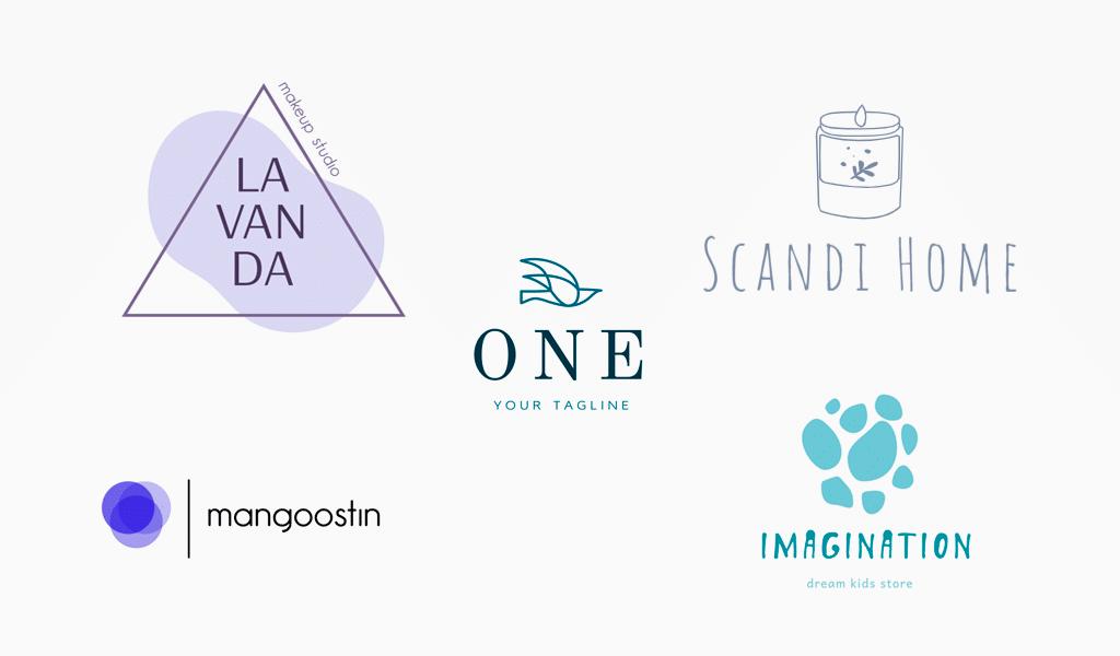 Minimalistische Logos