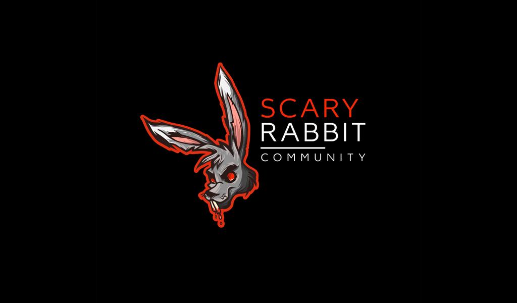 gruseliges Kaninchen-Gaming-Logo