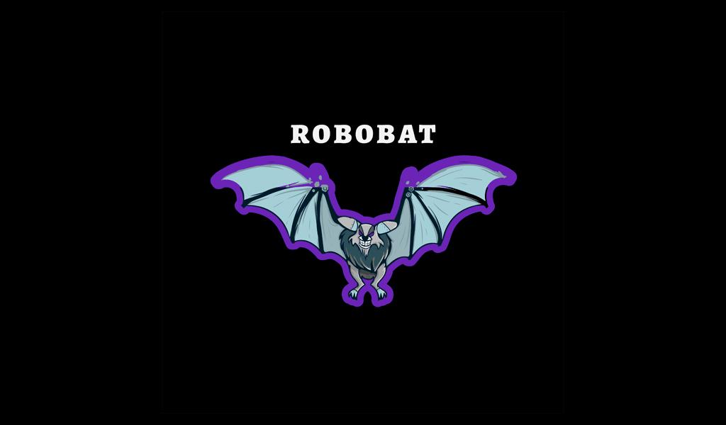 Roboter Fledermaus Gaming Logo